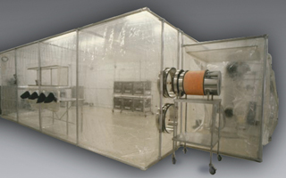Class Biologically Clean flexible film - softwall cleanrooms.