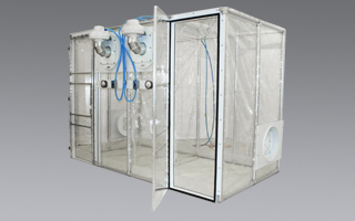 Class Biologically Clean flexible film, double room containment unit.
